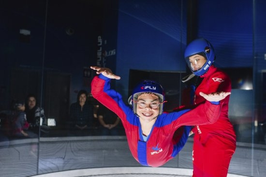 iFLY Indoor Skydiving - Denver: Experience the feeling of freefall as you float on a smooth cushion of air.