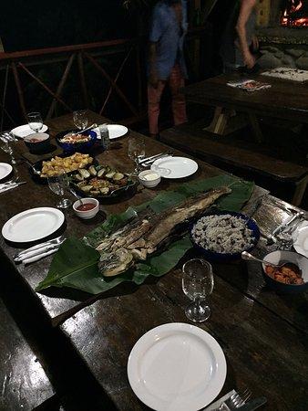 Marigot, Dominica: Evening meal of mahi mahi...