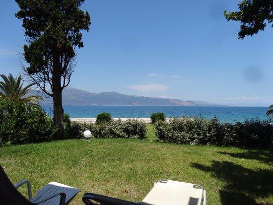 Aigio, Grecia: Vue de notre bungalow