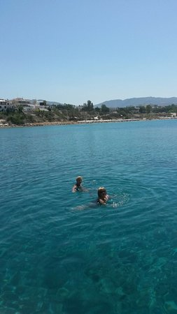 Alexander The Great Beach Hotel: A day out on the Speed Boat and swimming in the sea
