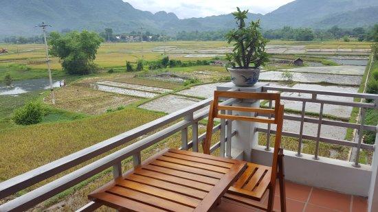Mai Chau, Vietnam: View from 3rd floor room balcony