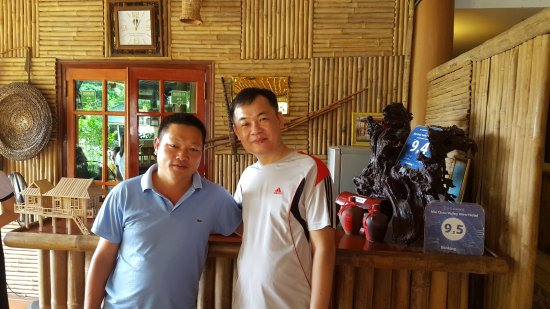 Mai Chau, Vietnam: Mr Duong on the left