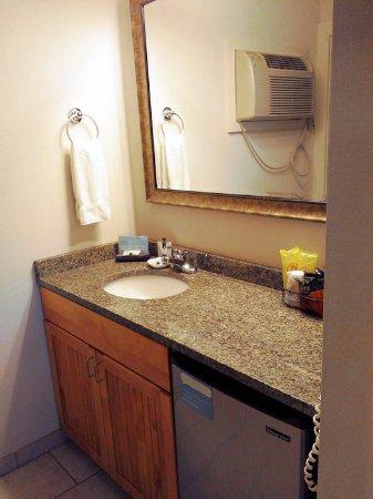 Bar Harbor Motel: Room 240 - Sink, fridge, etc.