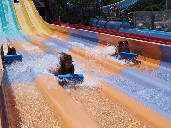 Wilderness Resort: racing slides were a BIG hit with the kids