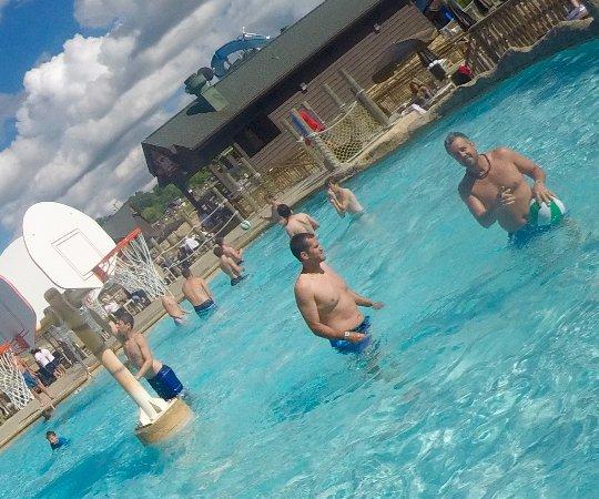 "Wilderness Resort: Every resort spot has water basketball. ""HORSE"" anyone?"