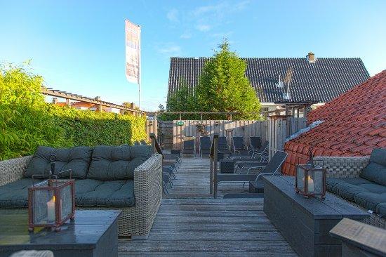 Sauna van Egmond : Enjoy the sun on our trandy roof-terrace