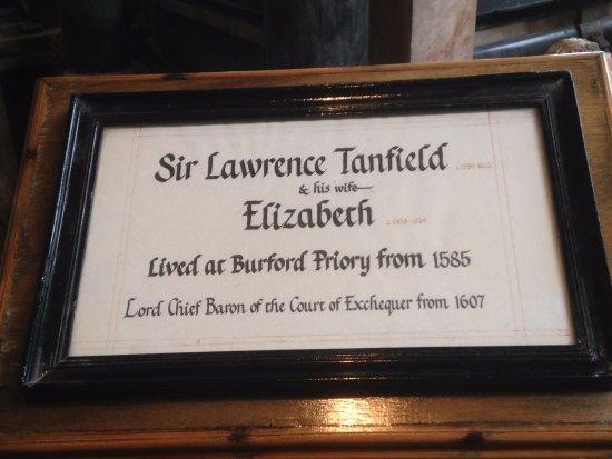 Burford, UK: Tomb Plaque.