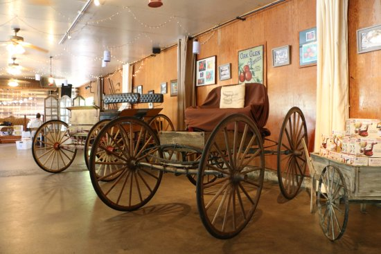 Oak Glen, CA: Old Carriages on display in Country Store