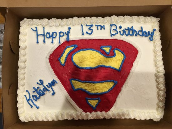 Whitney, TX: Superman Birthday Cake