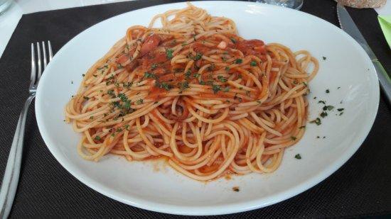 Seveso, Italia: Menù di lavoro: spaghetti con moscardini