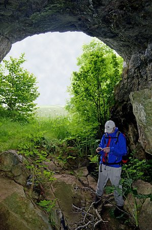 Staffordshire, UK: Small Cave at the Summit of Thors Tor