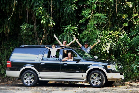 "Unique Maui Tours: Cruising in style with our faithful ""Ella"" on the Road to Hana private tour"