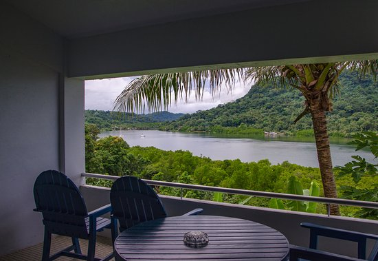 Kolonia, Federated States of Micronesia: View from our room, 2nd floor in new building