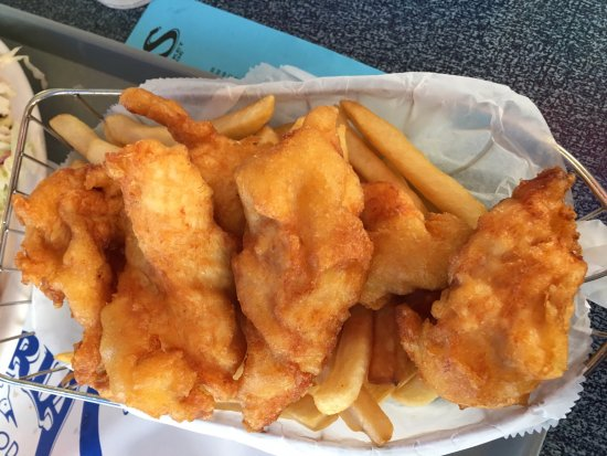 Halibut Fish and Chips - Picture of Andria's Seafood Restaurant, Ventura - TripAdvisor