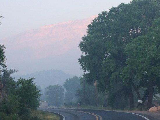 Canon del Rio Retreat & Spa: View of Highway in front of Canon del Rio grounds.