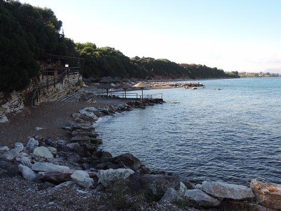 Petalidi, Griekenland: Hotel beach