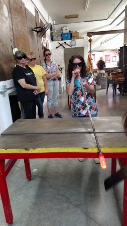 Jaffrey, Nueva Hampshire: Blowing glass
