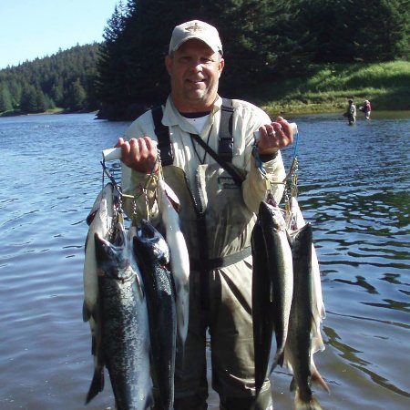 Kodiak, AK: Remote fishing at Litnik (Afognak Island)