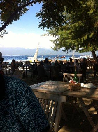 Gili Islands, Indonesia: Strand op Gili T.