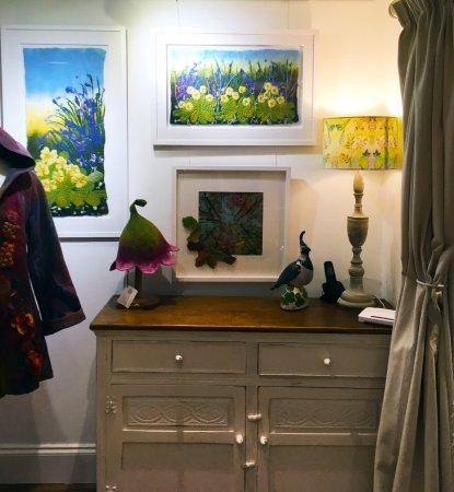 Horrabridge, UK: Hilary charlton-Woodgate textile art at Wildwood