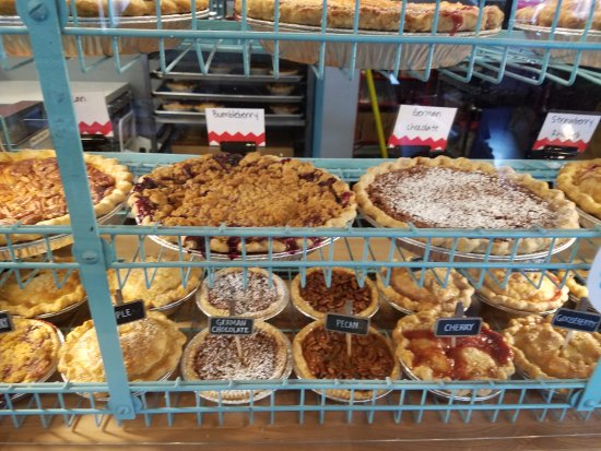 Overland Park, KS: They have regular size & individual pies. Two could share the individual pies but why would you?
