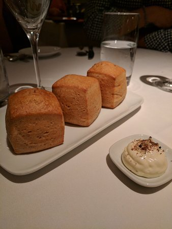 Brioche with goat cheese butter