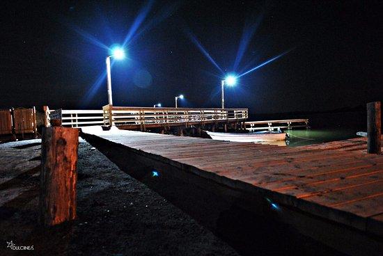 Topolobampo, México: Puente en el maviri, Vista nocturna.