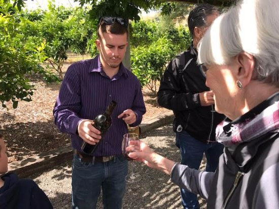 Viansa Winery and Italian Marketplace: Wine tasting. The 2013 ViansaVinoRossoRedBlend was DELICIOUS