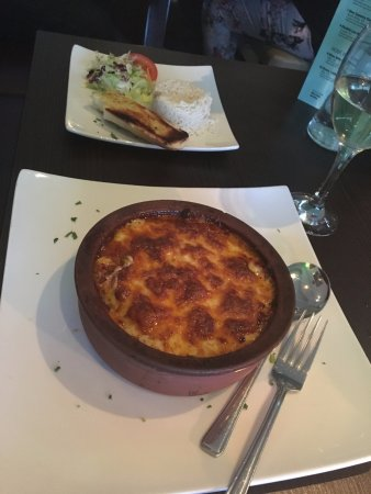 The Mediterranean Kitchen: Lamb Moussaka and side.