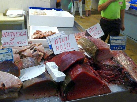 Sanlúcar de Barrameda, España: Rotes Thunfischfleisch