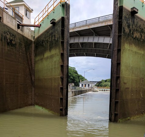 Lockport, Νέα Υόρκη: View thru the locks.