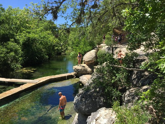 Wimberley, TX: Jacob's Well is an artesian spring that releases thousands of gallons of water a day.