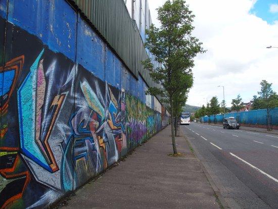 Greystones, Ierland: Peace Wall in Belfast