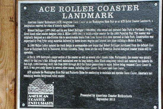 Puyallup, Вашингтон: ACE coaster landmark- Classic Coaster