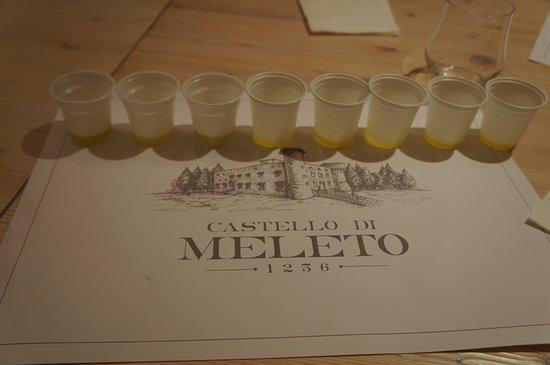 Castello di Meleto: Olive oil tasting