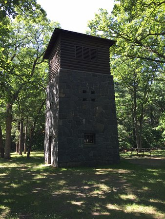 Little Falls, MN: WPA water tower make of stone