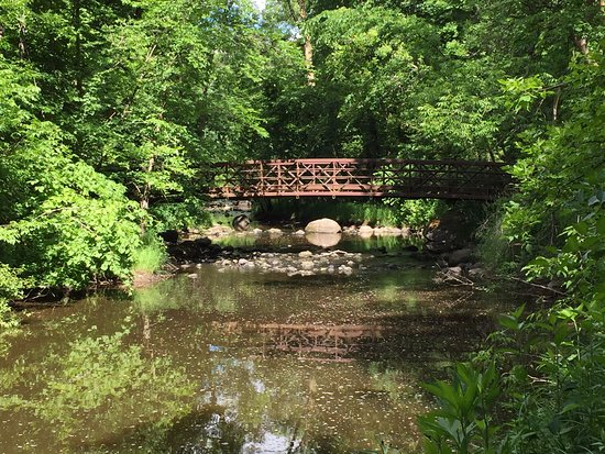 Little Falls, MN: Foot bridge over creek