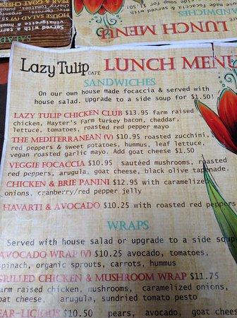 Barrie, Kanada: Sneak Peak Lunch Menu