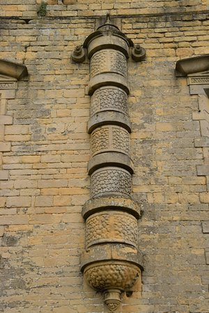 bolsover castle exterior decoration detail on the gallery