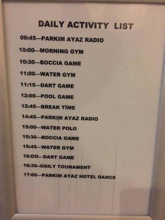 Daily Activity List