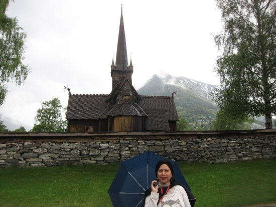 Lom, Norway: Pointy and exotic in the rain