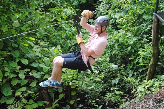 Mal Pais, Costa Rica: Ziplining