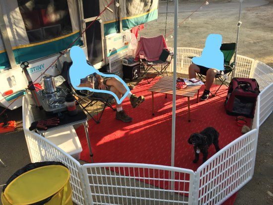 Santee, Californie : camping pets