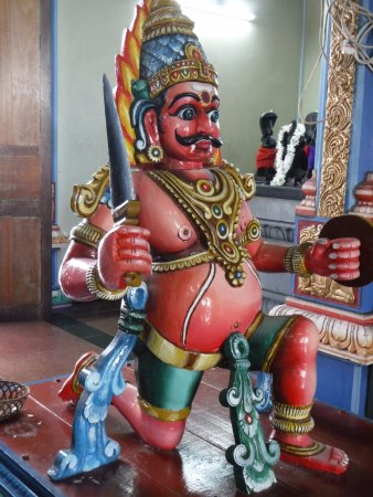 Victoria, Seychelles: Inside the Hindu Temple in Mahe, Seychelles.