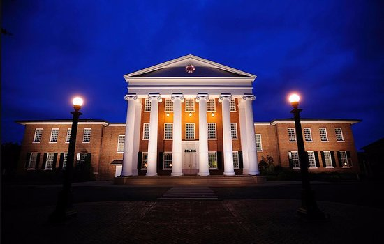 Oxford, MS: Lyceum at night.