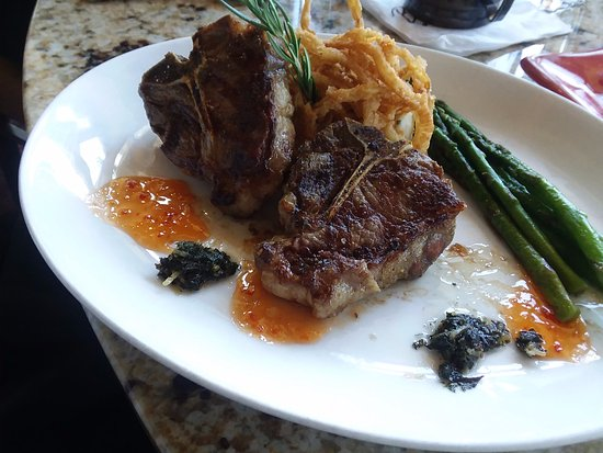 Richland, WA: Lamb Chops, nicely flavored well cooked