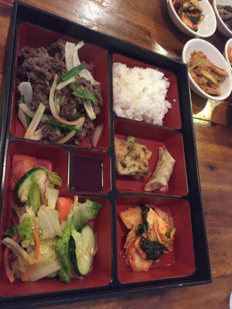 Oviedo, FL: Bulgogi Box (lunch) $8.95 - Thinly sliced, marinated beef with rice & sides