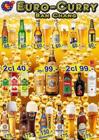 Бан-Чанг, Таиланд: Biere und alkoholische Getränke