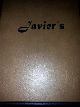 Glenview, IL: Javier's menu cover page