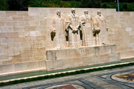 Reformation Wall (Mur de la Reformation) : Reformation Wall monument with main founders of reformation movement